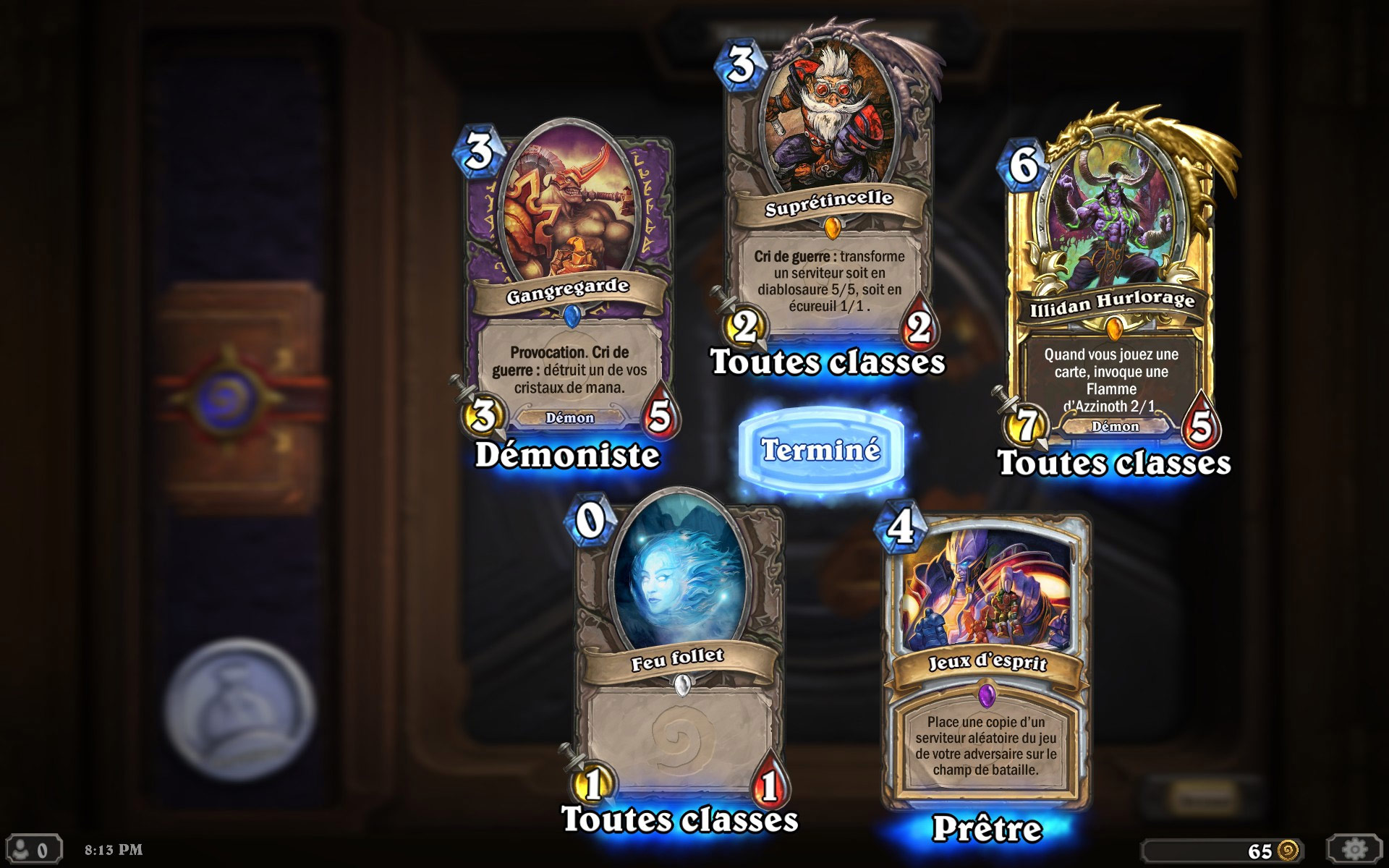 Screenshots de Hearthstone: Heroes of Warcraft réalisé par crusher95800.