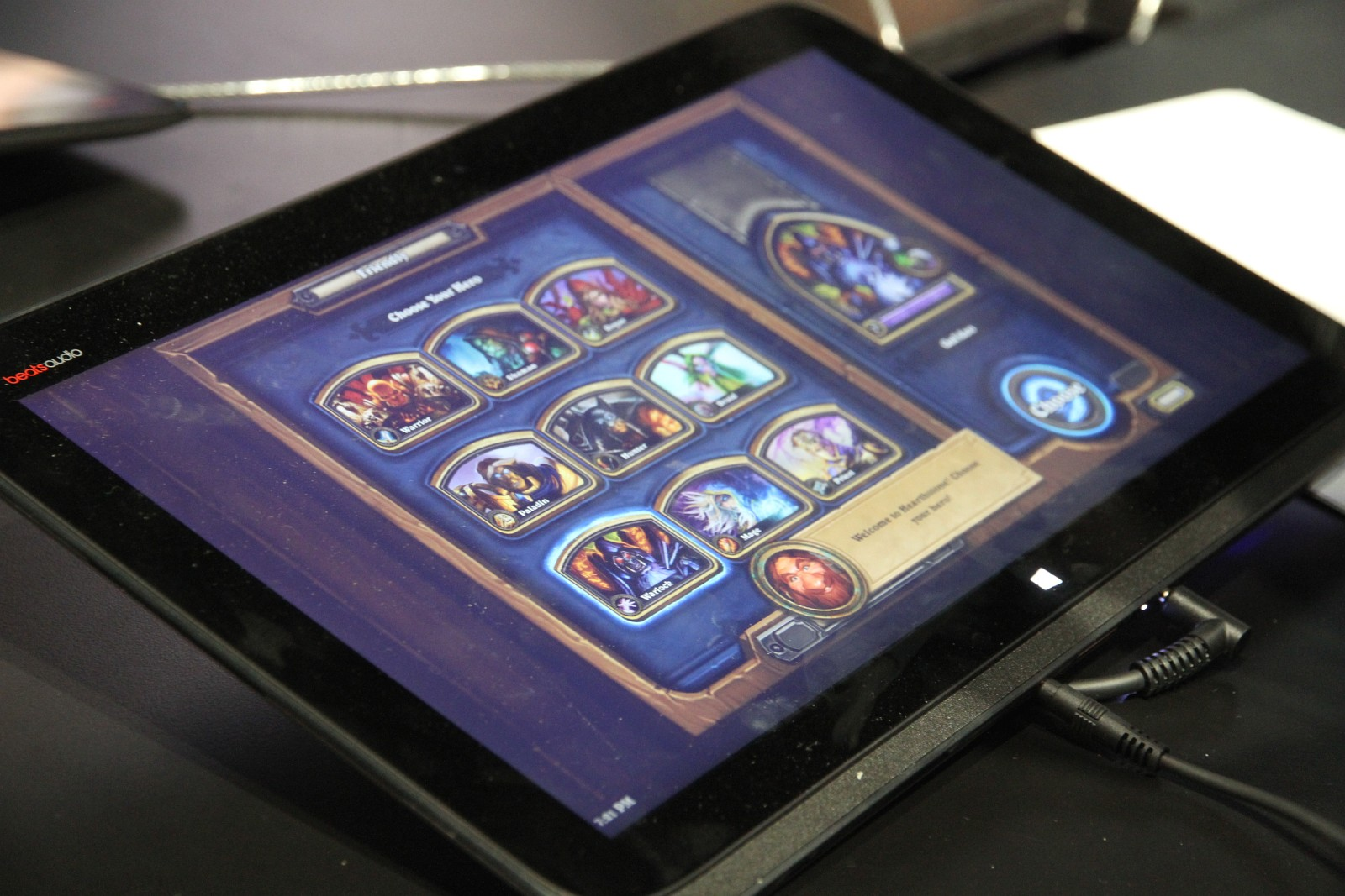 HearthStone sur tablette lors de la BlizzCon 2013
