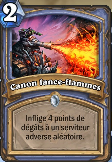 canon lance flammes carte hearthstone hearthstone judgehype. Black Bedroom Furniture Sets. Home Design Ideas