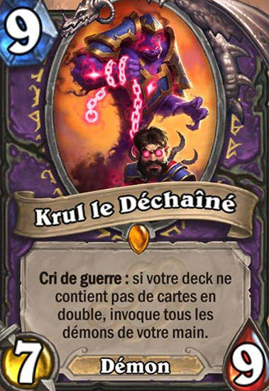 Carte Hearthstone.Krul Le Dechaine Carte Hearthstone Hearthstone Judgehype