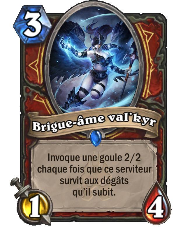 Brigue-âme val'kyr : Carte de l'extension Chevaliers du Trône de glace pour Hearthstone.
