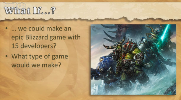 Slide de présentation de Hearthstone: Heroes of Warcraft à la PAX East (22 mars 2013).