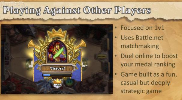 Slide de présentation de Hearthstone: Heroes of Warcraft à la PAX East (22 mars 2013).